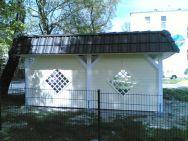 Doppel-Carport Chemnitz mit Seitenwand und Applikationen