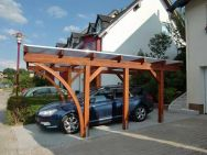Einzel-Carport mit Rundbogen und Kunststoff-Eindeckung