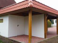 Garagen-Carport-Kombiation Thüringen Rückansicht