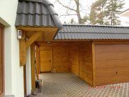 Garagen-Carport-Kombination Glösa bei Chemnitz mit Hauseingangsüberdachung