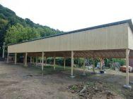 Reihen-Carportanlage für Wohnmobile Freital bei Dresden mit Solar-Dach für Stromerzeugung