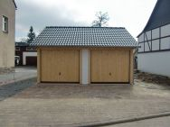 Satteldach-Carport Chemnitz als Doppelgarage mit traufseitiger Einfahrt