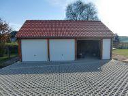 Satteldach-Garage Leipzig mit Nebentür
